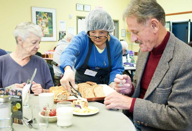 SUBMITTED PHOTO: MEALS ON WHEELS - The Meals on Wheels on-site lunch program moved from the Multnomah Arts Center to the Meals on Wheels site next door.