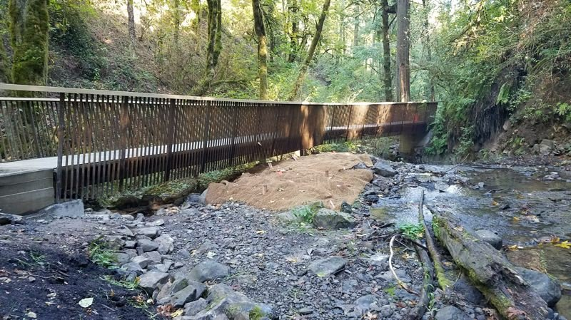 COURTESY PHOTO: CITY OF PORTLAND - A bridge replacement project will close part of Forest Park's Macleay Trail for a couple of weeks in March.