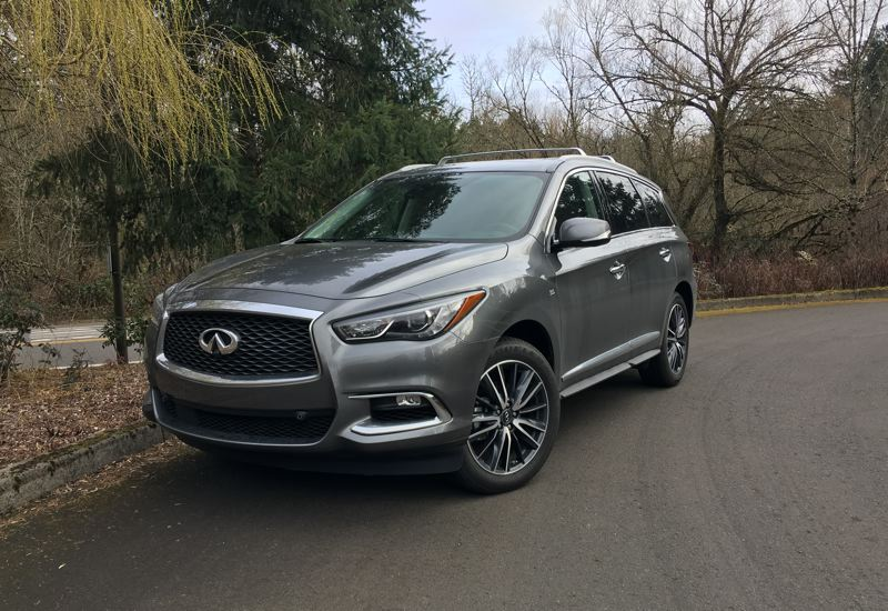 PORTLAND TRIBUNE: JEFF ZURSCHMEIDE - The 2018 Infiniti QX60 is a styling mid-size crossover SUV with room for seven and a powerful 3.5-liter V6 engine.