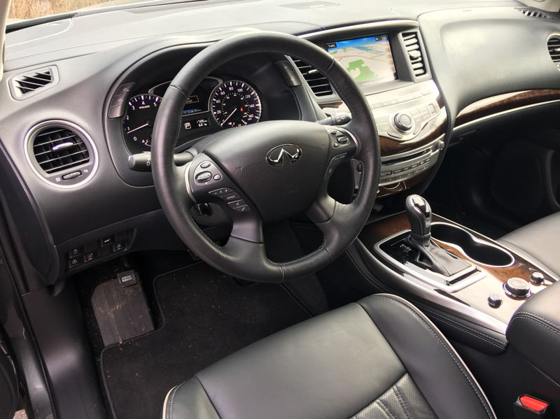 PORTLAND TRIBUNE: JEFF ZURSCHMEIDE - Inside, the QX60 delivers all the luxury and tech features you expect from an Infiniti.