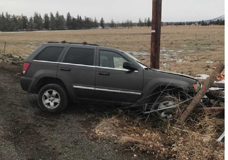 OREGON STATE POLICE - The power pole sustained minimal damage following the crash according to Central Electric Co-op personnel.