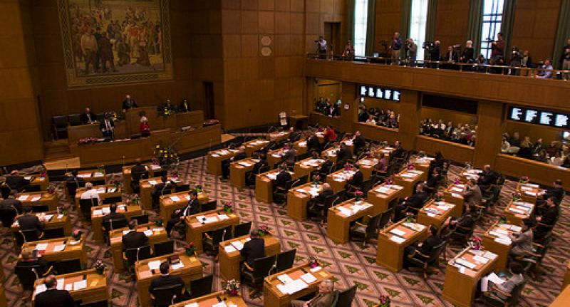 COURTESY PHOTO - The floor of the senate at the Oregon Capitol.