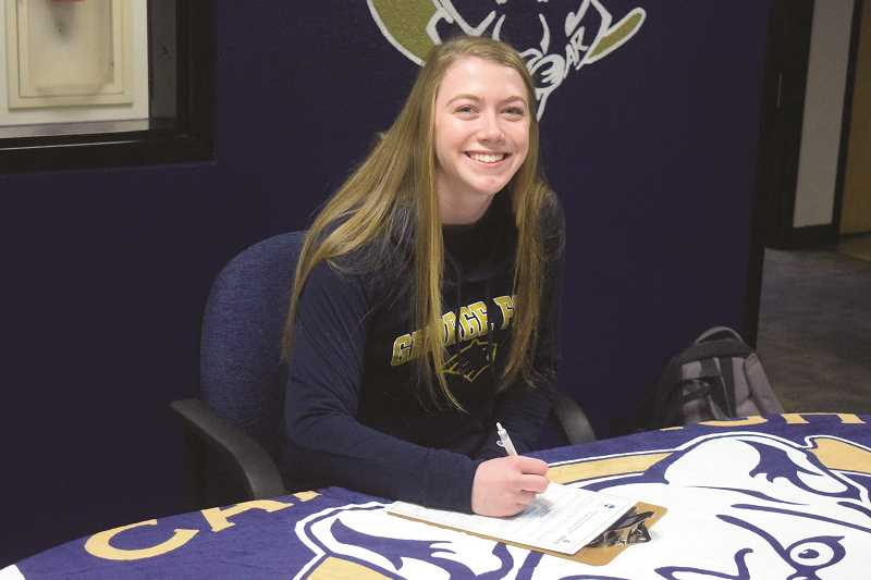 HERALD PHOTO: TANNER RUSS - Canby senior Cassidy Posey signed a letter of intent to compete at George Fox University next year.