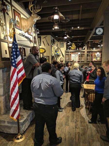 PAMPLIN MEDIA GROUP: JOSEPH GALLIVAN - Cracker Barrel's Beaverton Old Country Store opened to the public on February 26. Grey-shirted top performing staff from around the nation came to train the locals in the Cracker Barrel way.