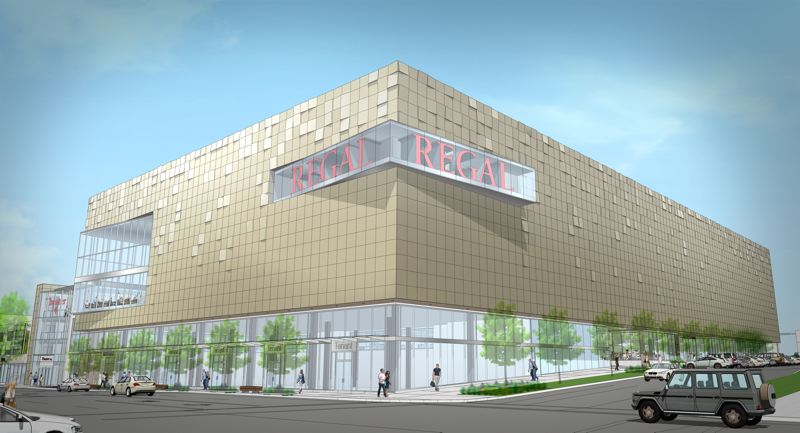 COURTESY: REGAL - The new Regal multiplex at Lloyd Center opens in 2019 and will rpleace the one across the street,