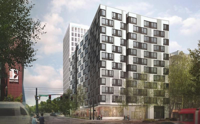 COURTESY HOME FORWARD - A 240-unit affordable housing project to be built by Home Forward with Portland's support at Northeast Grand and Hassalo.