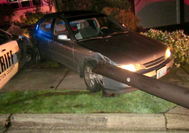 WASHINGTON COUNTY SHERIFF'S OFFICE - This 1995 Honda Accord crashed after trying to flee from Washington County Sheriff's Office deputies.