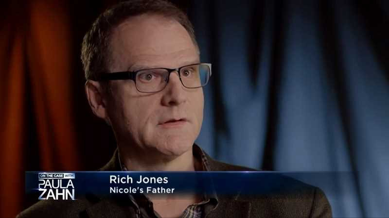 Nicole Laube's father, Rich Jones, speaks in an interview segment during last weekend's 'On the Case with Paula Zahn.'