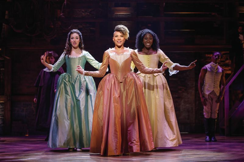 PHOTO BY JOAN MARCUS - 'Hamilton' stages at Keller Auditorium, March 20-April 8, and it was difficult to get tickets. But, Broadway in Portland will have digital lottery tickets for $18 for each performance. The Porltand lottery option on the app goes live on March 18, or visit hamiltonmusical.com/lottery to register.