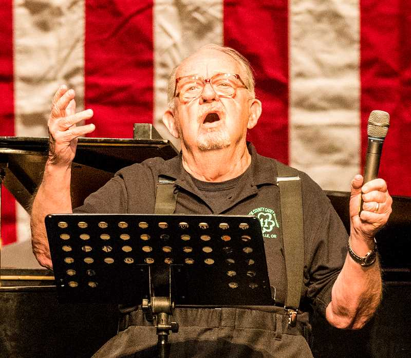"""LON AUSTIN/CENTRAL OREGONIAN - Marv Cochran, who started the Prineville Follies 40 years ago, performed """"Ol' Man River"""" by Oscar Hammerstein."""