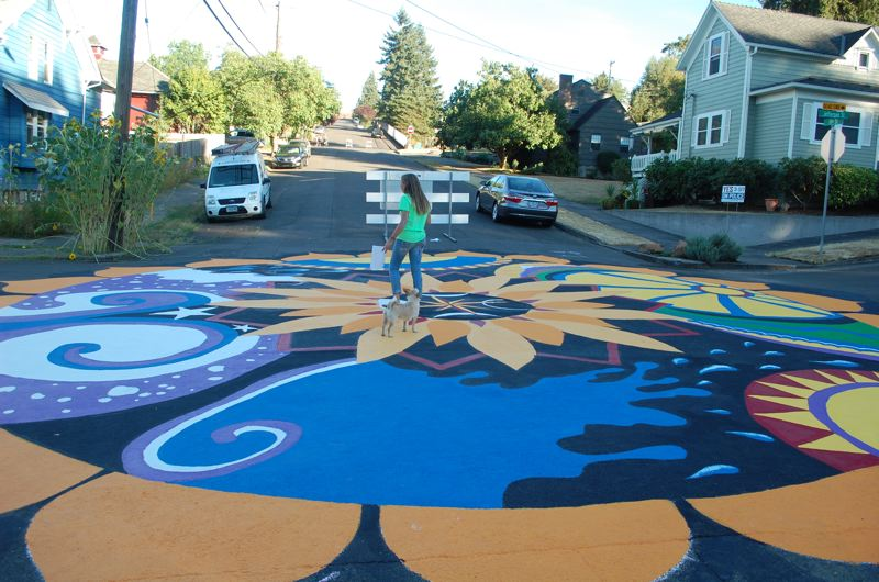 PHOTO BY: RAYMOND RENDLEMAN - In 2014, Oregon City pioneered a program to charge users of streets and sidewalk areas for permits to use the city's right-of-ways, whether the use is an underground utility line or a street closure for an intersection painting.