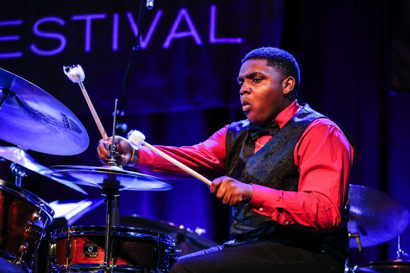 COURTESY: MARK SHELDON/PORTLAND JAZZ FESTIVAL - Dominick Branch led his Domo Branch Quintet in the PDX Jazz Festival's Jazz By 5 show recently. Of his future, he says: 'Honestly, my long-term goal is just to play beautiful music with great musicians.'
