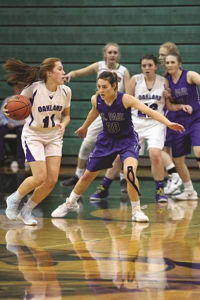 JODI ARRITOLA - senior Logan Robinson capped her basketball career in emphatic fashion, scoring a career-best 21 points on Saturday to beat the Faith Bible Falcons 47-36.