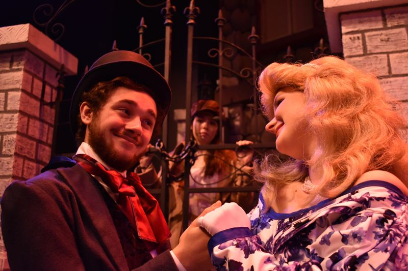 CONTRIBUTED PHOTO: MAT CORNETT - Troy Chittock as Marius, Chloe Hallberg as Eponine and Tess Wix as Cosette in Les Miserables.