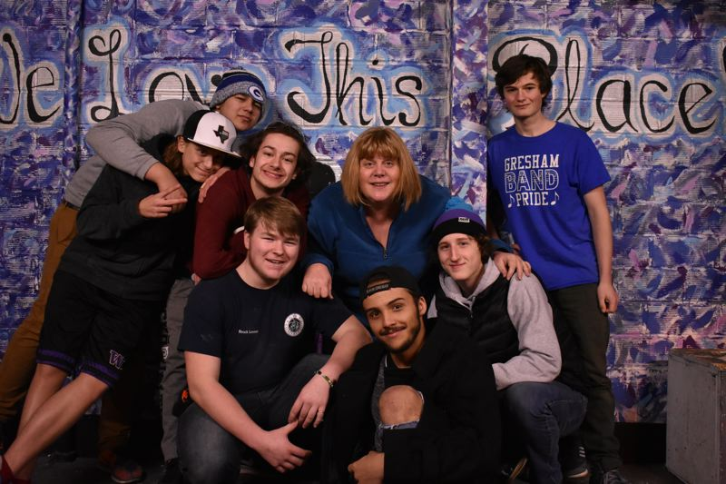CONTRIBUTED PHOTO: MAT CORNETT - Les Mis marks Gresham High School Theaters last performance in its longtime performing arts space. The performers include (top row, from left) Syrus Sagiao, Harrison Andrus, Joshua Barcroft, Sara Dempsey and Andrew Walton, and (bottom row) Cole Dugan, Robert Harris and Andrew Diedrich.
