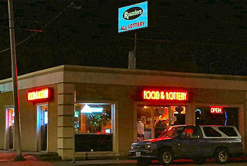 DAVID F. ASHTON - Police were again called to this lottery-tavern in the Gateway business district of East Portland to investigate an armed robbery. This time they made two arrests.