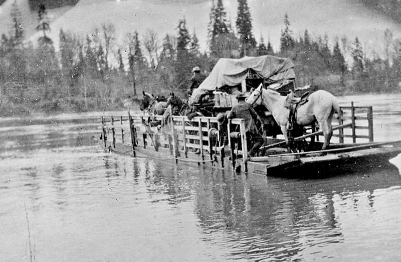 GRAPHIC FILE PHOTO - The Willamette River was a major thoroughfare for commerce in the Newberg area.