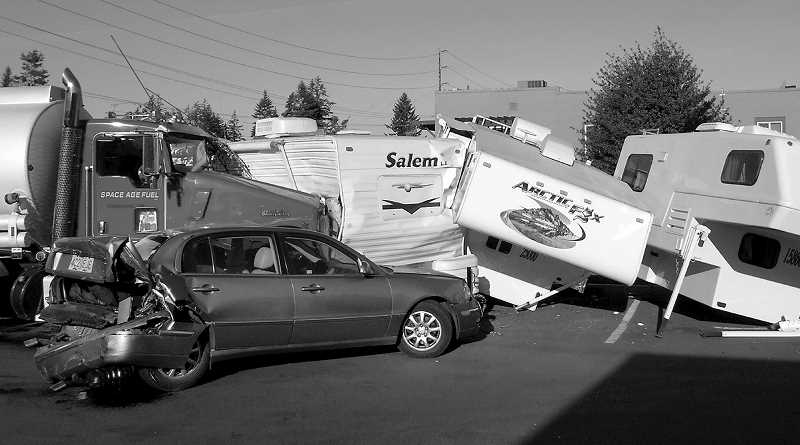 PMG FILE PHOTO - A bill awaiting Gov. Kate Brown's signature requires drivers in hit-and-run crashes to return to the scene once they learn there was a collision.