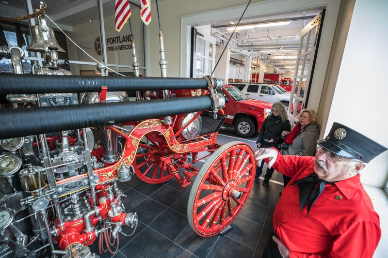 PORTLAND TRIBUNE: JONATHAN HOUSE - Retired Portland firefighter Al Carocci talks about the restored 1911 American LaFrance steam pumper. also on display at Fire Station 1.