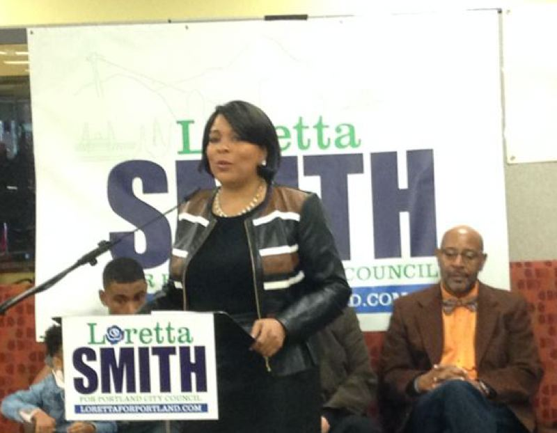 PORTLAND TRIBUNE FILE PHOTO - Loretta Smith at her campaign kickoff.