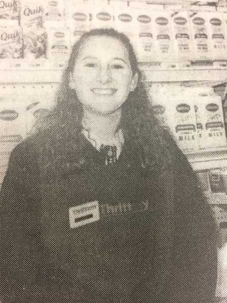 ARCHIVE PHOTO - In 1998, Missy Julien was associate of the week at Estacada Thriftway.