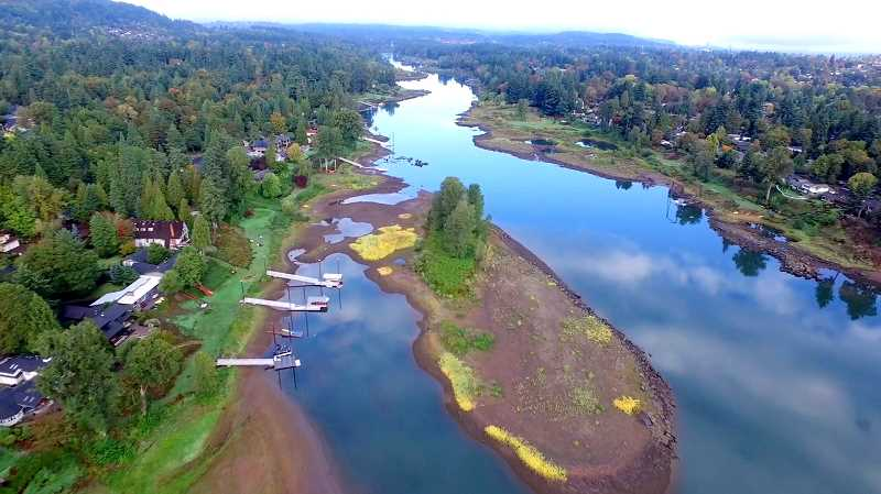 SUBMITTED PHOTO: WEST LINN RIVERFRONT ASSOCIATION - WLRA chairman Chris Mitchell says riverfront access down river from the Cedaroak Boat Ramp has become increasingly difficult since the ramp's construction, due to lower water levels caused by silt.