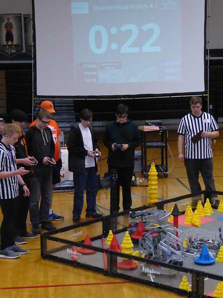 SUBMITTED PHOTO - The Molalla High School robotics teams will compete at the State Championship on March 9-10.