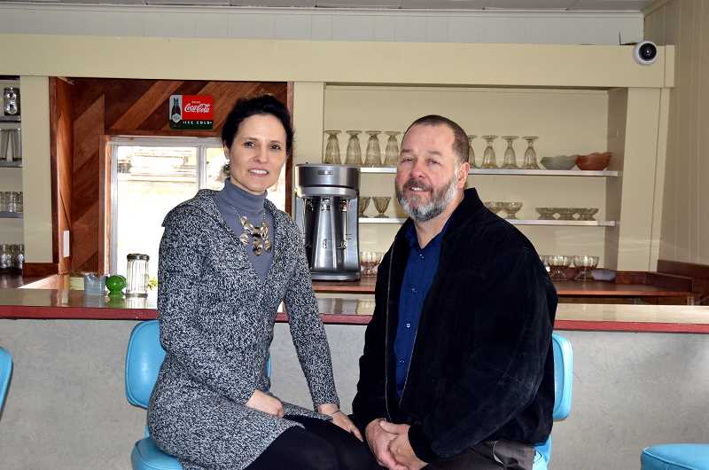 PIONEER PHOTO: CINDY FAMA - Amy and Matt Hall became the new owners of the Colton Café on Tuesday, Feb. 27.