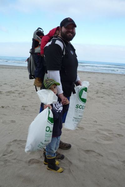 COURTESY SOLVE - You can fill a bag like these at the upcoming spring beach cleanup on March 24.