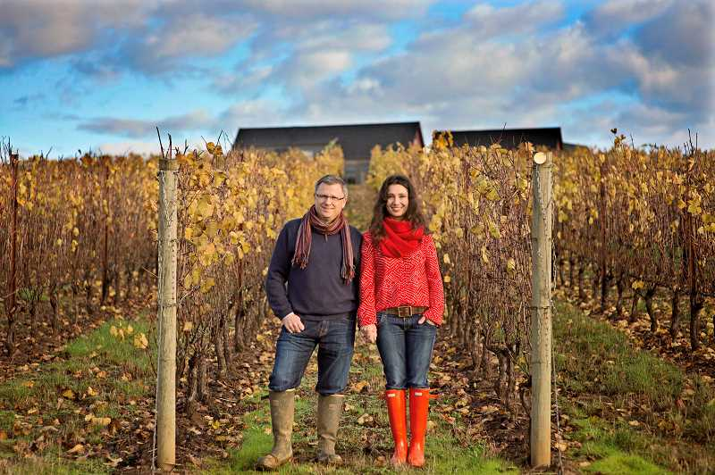 SUBMITTED PHOTOS: CWKPHOTOGRAPHY - Judy Snyder of West Linn found Guy Insley and Ximena Orrego to be charming and their wines are fabulous. This shot was taken in their Atticus Vineyard in Yamhill.