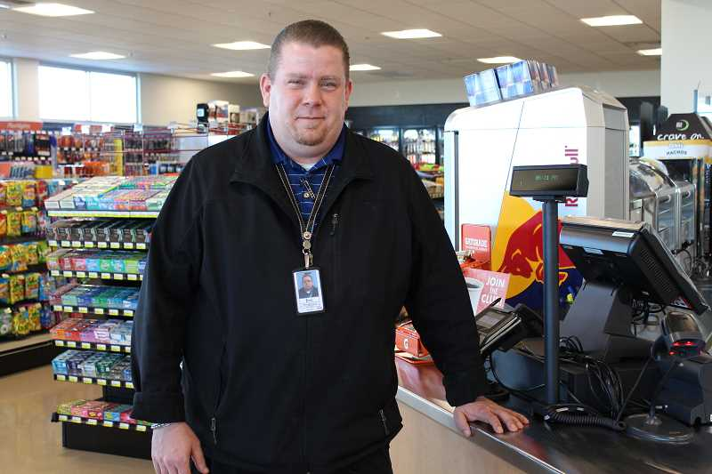 HOLLY M. GILL - Eric Angel, the general manager of the soon-to-open Plateau Travel Plaza, is working to train the 65-70 new employees before the March 24 opening. Angel is standing next to the deli checkstand in the convenience store portion of the facility.