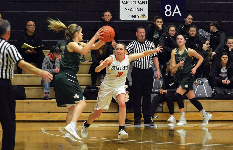 TIMES PHOTO: MATT SINGLEDECKER - Beaverton shooting guard Nicole Posner and the Beavers took down Sheldon in the Class 6A semifinals on Wednesday.