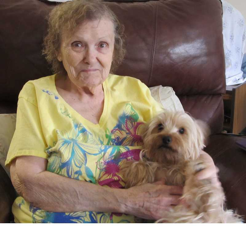 SUBMITTED PHOTO - Elaine Daniels and her pup 'Little Bit.'