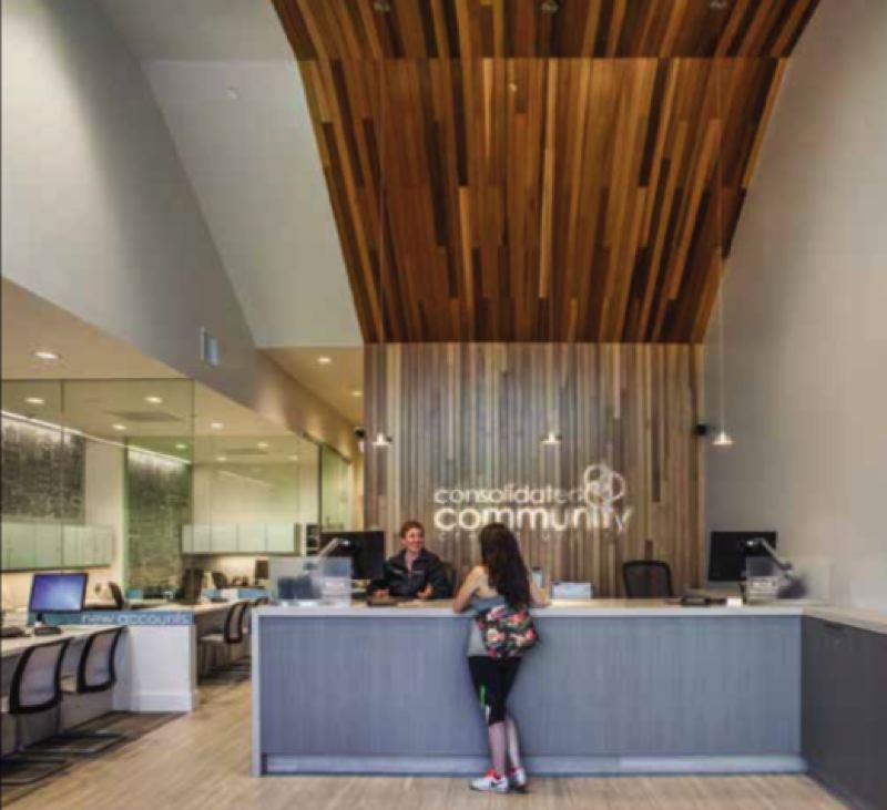 COURTESY: SCOTT|EDWARDS ARCHITECTURE  - Scott|Edwards Architecture has found that the open design concept utilizing natural materials is still very popular for offices and creative spaces.