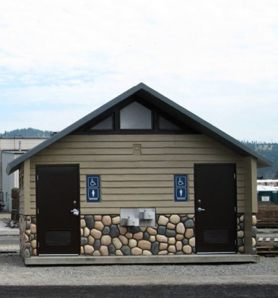 PHOTO COURTESY OF CITY OF SCAPPOOSE - Scappoose city councilors approved the purchase of a bathroom structure, modeled just like the one shown here, for a new pocket park slated to be developed on Seely Lane.