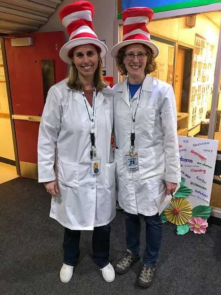 COURTESY OF DURHAM ELEMENTARY - The two teachers behind putting together the STEAM event were Anna Southards, left, and Nikole Emerson.