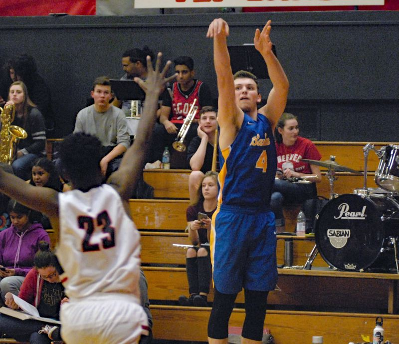GRESHAM OUTLOOK: MATT RAWLINGS - Barlow's Austin Forrar knocks down a 3-pointer in a game against David Douglas earlier this season.