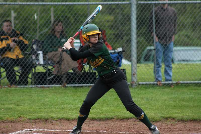 PIONEER FILE PHOTO  - Colton senior Brooklyn Olsen takes the plate during a home game last season.