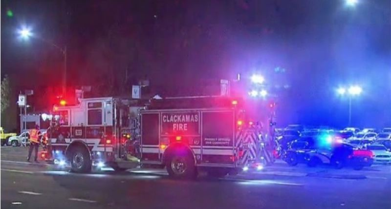PHOTO BY: KOIN 6 NEWS - A man died after being hit by a car while walking his dog at Hull Avenue and 99E in Gladstone on March 7.