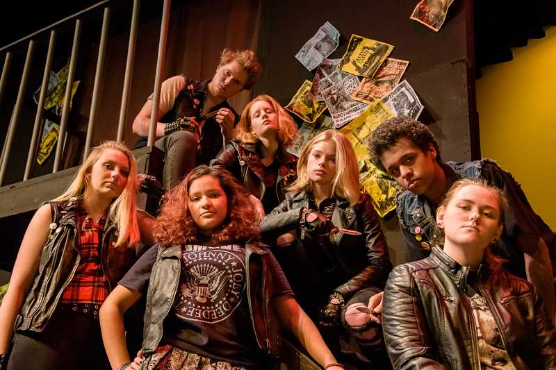 COURTESY TUALATIN HIGH SCHOOL THEATRE DEPARTMENT - Members of the cast of a punk version of 'Romeo and Juliet' are ready for performances set for March 15 to 17 at 7:30 p.m.; March 16 at 3:30 p.m., and March 17 at 2 p.m.