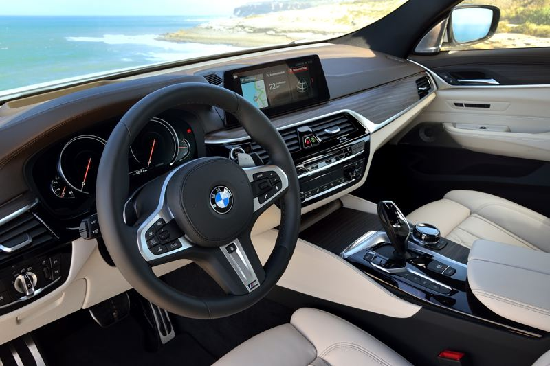COURTESY BMW - The interior of the 2018 BMW 640i xDrive GT offers all the comfort and technology you should expect from the German manufacturer.