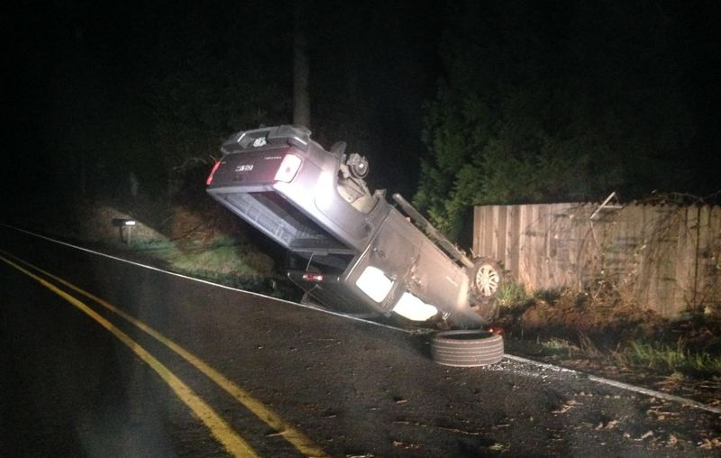 CLACKAMAS COUNTY SHERIFF'S OFFICE - Thomas Green was arrested for crashing his truck.