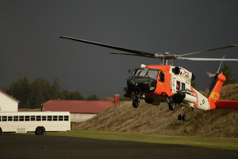COURTESY IMAGE - A U.S. Coast Guard search and rescue helicopter is shown here in this undated photo.