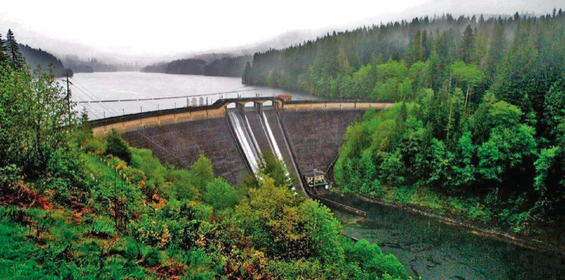 PORTLAND TRIBUNE FILE PHOTO - The dam in the Bull Run Watershed.