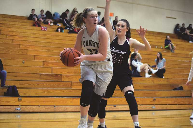 """ARCHIVE PHOTO: TANNER RUSS - Canby senior Alice Lambert was one of the teams captains, and one of the leaders on and off the court. The 6'0"""" post was a constant source of defensive and offensive pressure in Canby's run towards the post-season."""
