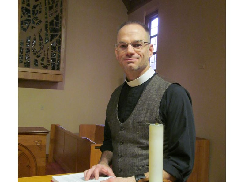 PHOTO BY ELLEN SPITALERI - As the new priest at Oregon City's St. Paul's Episcopal Church, Shawn Dickerson will lead two services on Easter morning.