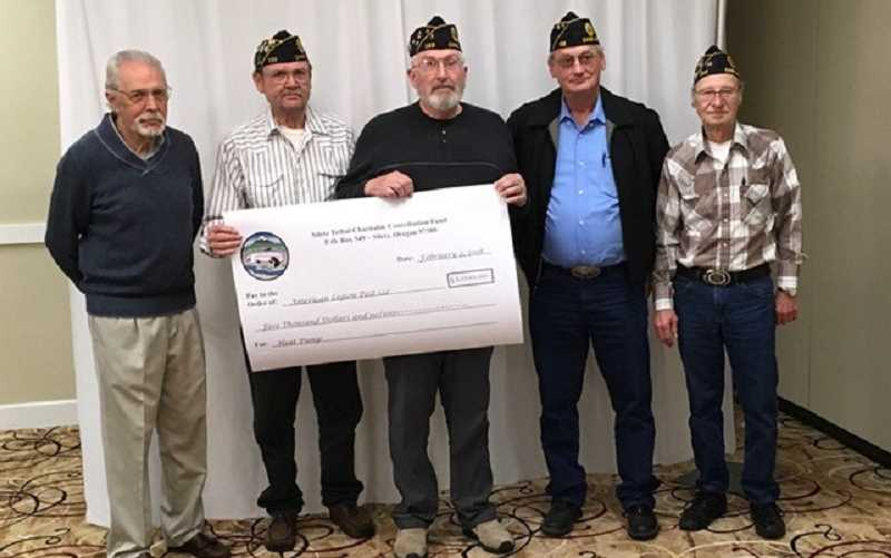 (From left) Mike Holden, chairman of the STCCF Advisory Board, Lou Westwick Post Adjutant, Mark O'Shea Post Finance Officer, Steve Renhard Post Commander and Lyle Hilley Post Past Commander and Executive Board member.