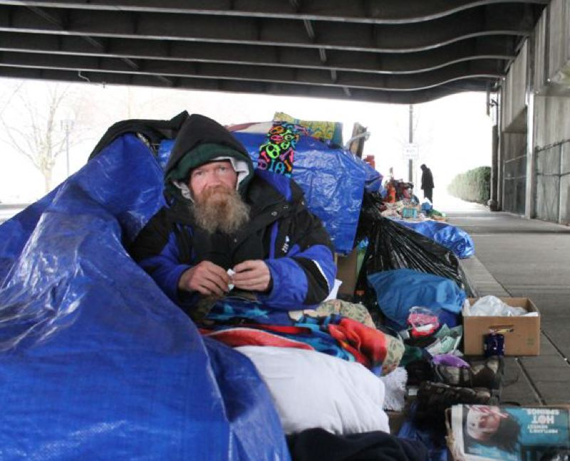 PORTLAND TRIBUNE FILE PHOTO - Homelessness is an increrasingly visible problem in the Portland area.