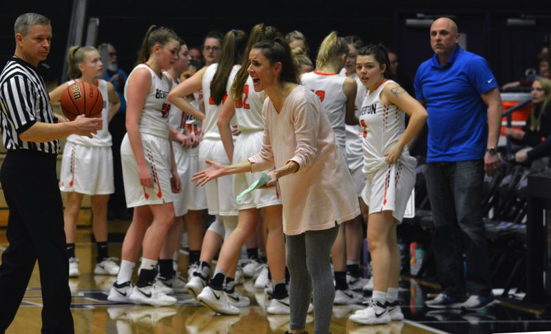 TIMES PHOTO: MATT SINGLEDECKER - Beaverton head coach Kathy Naro helped take the Beavers from the Metro League basement back to the 6A semifinals.