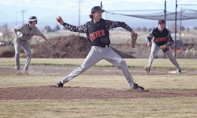PIONEER FILE PHOTO - Culver's six doubleheaders scheduled for the upcoming season will require a deep stable of pitchers to trot out. Among them are seniors Jordan Bender (center) and Cole Little (right).